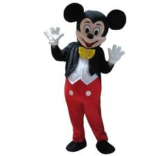 New Adult Size Mickey Mouse Mascot Costume Halloween Cosplay Disney Character