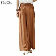 Oversized Casual Loose Wide Leg Pants  Elastic Waist Trousers Plus Size