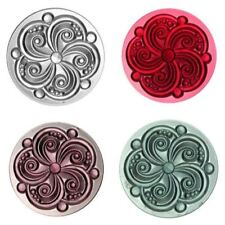 35mm Swirl Textured Glass Jewels for Stained Glass - 5 Colors!