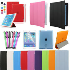 Smart Magnetic Stand Cover Hard Back Case for Apple iPad 5 4 3 2 Mini Sleep Wake