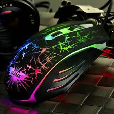 7 Colors LED Backlit Optical Gaming Mouse Ergonomic USB Wired Mouse Mice Lot PK