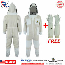 3 Layer beekeeping protective full suit beehive ventilated jacket Round Veil