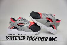 (704952-600) TODDLER GIRL'S NIKE HUARACHE RUN HOT PUNCH/WOLF GREY/ANTHRACITE