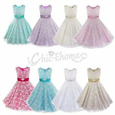 Flower Girl Princess Dress Kids Party Wedding Pageant Formal Bridesmaid Dresses