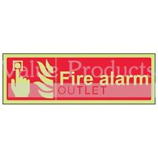 VSafety Glow In The Dark Photoluminescent Fire Alarm Equipment Sign