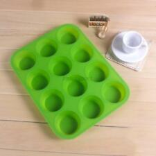 Silicone Nonstick 12 Cups Muffin Pan Cupcake Tray Cake Baking Candy Mold Tools