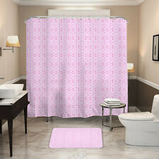 HALLO Pink Dots Style Waterpro of Polyester Fabric Shower Curtain