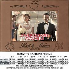 Personalized Leather Picture Frame 4x6 5x7 8x10 Engagement Photos Wedding Couple