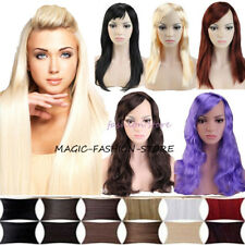Bright Color Ladies Full Wig Long Curly Wavy Hen Party Cosplay Fancy Ddess ye7r