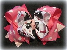 Minnie Mouse Zebra Boutique Hair Bow Girls Party Hairbow Magical Pink Layered