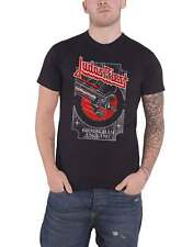 Judas Priest T Shirt Silver and Red Vengeance logo new Official Mens Black
