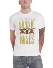 Guns N Roses T Shirt Big Guns band logo new Official Mens White