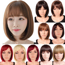 Fabulous Ladies Bob Full Wig Short Straight Heat Resistant Costume Daily Wig hfg