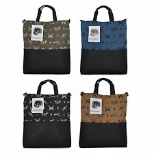 Faux Leather Fabric Shoulder Tote Shopper Bag Purse Insect Print School Work New