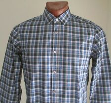NWOT Hugo Boss Dress Shirt Blue Checkered / Plaid Size M