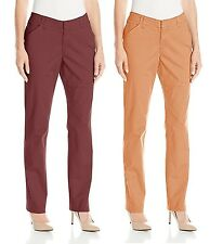 NEW Lee Essential Straight Leg Chino Pants Mid Rise Flat Front Stretch NWT