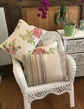 Laura Ashley Munro and Thorley fabric Cushion Covers with Gingham backs