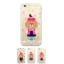 Gcase LINE Friends Choco Jelly Slim Bumper Case For Apple iPhone 6 6s 6/6S Plus