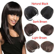 Fashion Clips in 100% Real Human Hair Extensions Neat Bangs/Fringe Hairpiece
