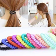 Women Hair Accessories Telephone Wire Rope Candy Color Plastic Hairwear