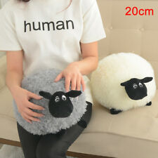 Plush Toys Cute Stuffed Soft Sheep Character Kids Baby Toy Gift Doll White Gray