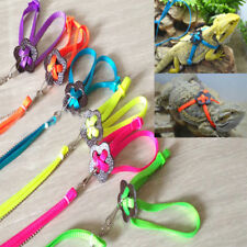 Adjustable Reptile Lizard Harness Leash Adjustable Multicolor Soft Rope Fashion