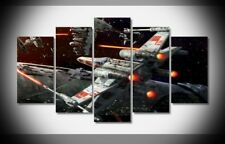 Framed Home Decor Canvas Print Painting Wall Art Star Wars X-Wing Spaceship Figh