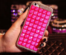 Luxury Handmade Bling Crystal Rhinestone Diamond Pink Case Cover for CellPhones