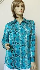 Pure Amici Blouse Animal Snake Print Silk NEW NO TAG Top Button Up Shirt Pockets