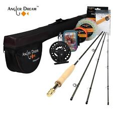 Fly Fishing Combo 3/4 5/6 7/8WT Fly Rod and Reel with Fishing Line Triangle Tube