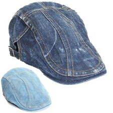 Men Women Newsboy Beret Jean Cabbie Cap Duckbill Ivy Golf Driving Flat Denim Hat