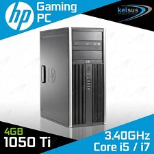 HP Elite 8200 Gaming PC Quad Core i5 i7 GTX 1060 6GB Windows 10 Desktop Computer