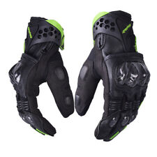 Carbonfiber Motorcycle Gloves Leather Women Youth Racing Moto Glove Moutain Bike