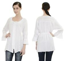 Anthropologie Top Blouse Tunic Caamano Embroidered Cotton White Boho NWT $168