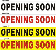 2ftX10ft Custom Printed Opening Soon Banner Sign