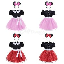 Baby Girls Minnie Mouse Polka Dot Halloween Cosplay Party Dress Outfits Clothes