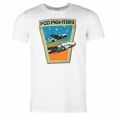 Foo Fighters Jets T-Shirt Mens White Casual Wear Top Tee Shirt