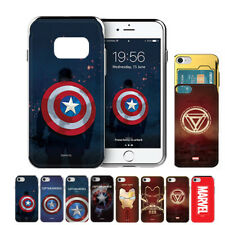 MARVEL Metal Slide Card Protect Dual Bumper Case For Samsung Galaxy S7 S7 Edge