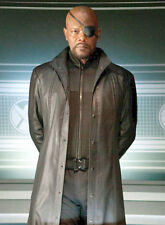 The Avengers Samuel L Jackson Nick Fury Leather Trench Coat - BNWT