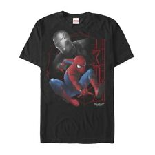 Marvel Spider-Man Homecoming Iron Man Grayscale Mens Graphic T Shirt