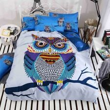 4/3pcs cotton bedding kids owl bedding set bed linen duvet cover bed sheet