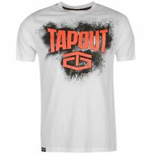 Tapout Placement T-Shirt Mens White Sportswear Top Tee Shirt