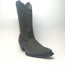 Laredo All-Over Studded Leather Cowboy Boots