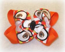 Googly Eyes Hair Bow Candy Corn Hairbow Halloween Girls Fall Boutique hair bow