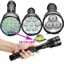 Police Flashlight Tactical 80000LM XML 16x T6 LED 5Modes 18650 Torch Lamp Light