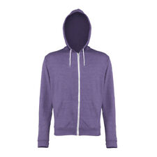 Awdis Mens Heather Zoodie Full Zip Hooded Sweat Jacket XS,S,M,L,XL