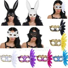 Women's Masquerade Ball Eye Mask Long Bunny Girls Ears Party Fancy Dress Costume