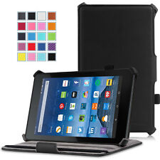 "For Amazon Kindle Fire 2015 HD 7"" Folio PU Leather Flip Stand Case Smart Cover"