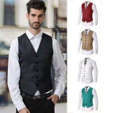Fashion Men Formal Casual Slim Fit Tuxedo Suit Dress Vest Waistcoat Wedding Prom