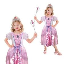 Girls Pale Pink Princess New Childs Magic Fancy Dress Costume And Accessories